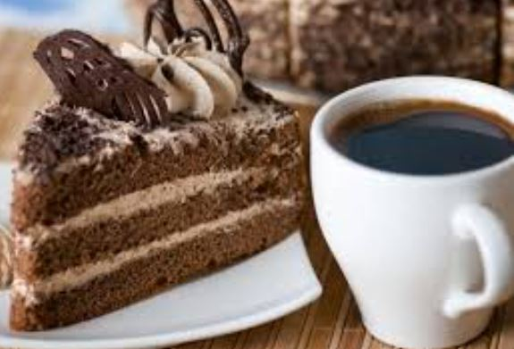 Take away coffee and cake